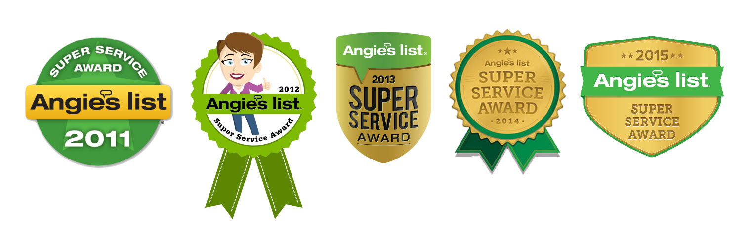Angie's List Super Service Award 5 Years in a Row!